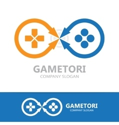Game controller logo template vector image vector image