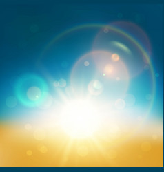 lens flare abstract background vector image