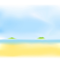 summer sea island vector image vector image