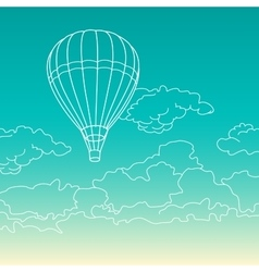 Air balloon flying in the clouds vector image vector image