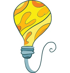 Bulb Art vector image