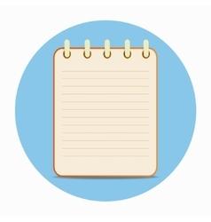 Flat template orange notepad vector