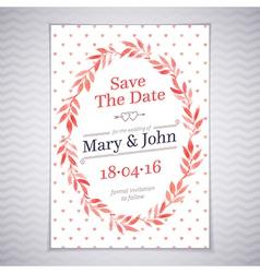 Watercolor wedding card vector image vector image