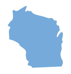 wisconsin state map vector image vector image