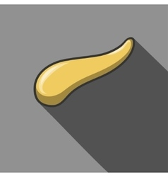 Pancreas flat icon with long shadow vector image