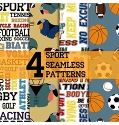 Sport patterns set vector image vector image