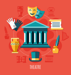 theatre colored composition vector image