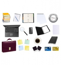 big colection of business elements vector image