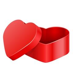 heart box vector image
