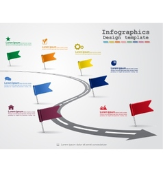 Infographics with elements and icons vector image vector image