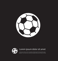 isolated ball icon football element can b vector image
