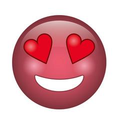 love emoticon style icon vector image vector image