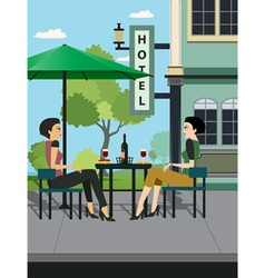 Restaurants Hotels vector image