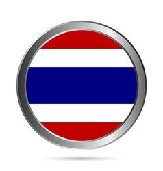Thailand flag button vector image