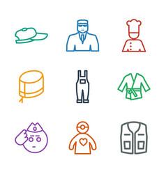 9 uniform icons vector