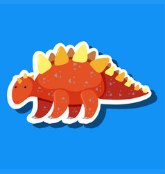 a simple dinosaur sticker vector image