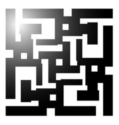abstract maze labyrinth like shape on white art vector image