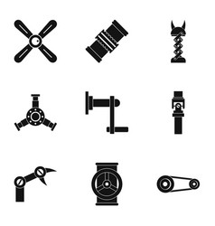 Auto parts icon set simple style vector