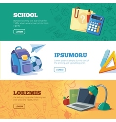 Back to school web banners set vector