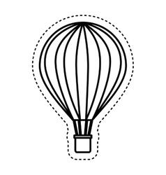 Balloon air hot travel vector