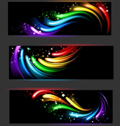 Banner with rainbow pattern vector