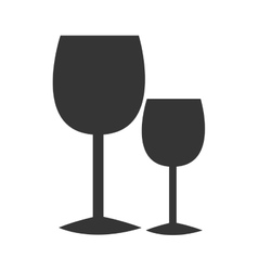 black glasses of wine graphic vector image