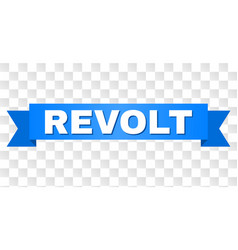 Blue stripe with revolt text vector