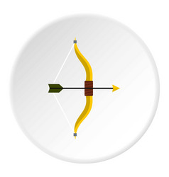Bow and arrow icon circle vector