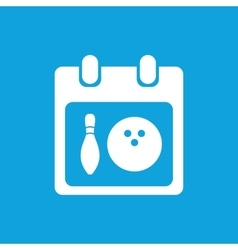 Bowling schedule icon simple vector image