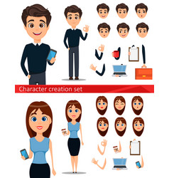 Business man and business woman cartoon vector