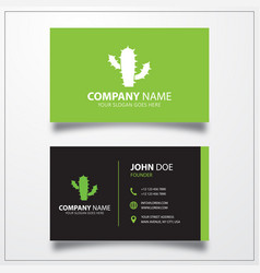 cactus icon business card template vector image