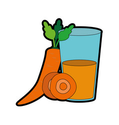 Carrot and juice design vector