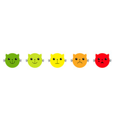 cat kitten kitty feedback scale smiley face vector image