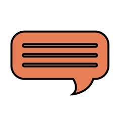 Chat bubble isolated flat icon design vector image