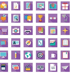 collection colorful flat business and finance vector image