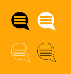 comments black and white set icon vector image