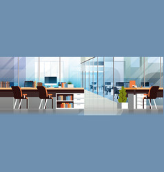 coworking office interior modern center creative vector image