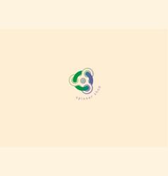 creative geometric modern logo fidget spinners vector image