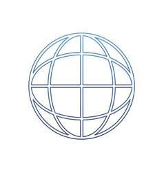 Degraded outline global digital network data vector