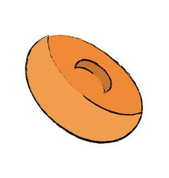 Delicious donuts dessert vector