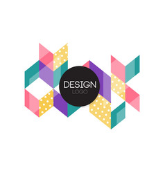 design logo colorful abctract geometric element vector image