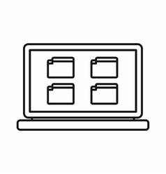Desktop icon outline style vector image