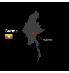 Detailed map of Burma and capital city Naypyidaw vector image