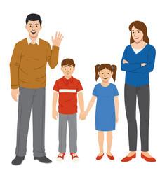 Family set cartoon style vector