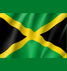 Flag jamaica realistic icon vector