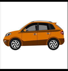 flat car crossover vector image