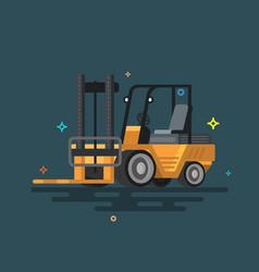 Forklift truck fork loader vector