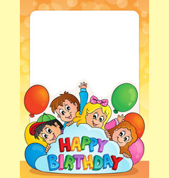 frame with birthday theme 3 vector image