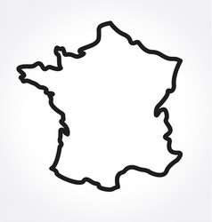 France map simplified outline vector