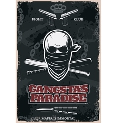Gangstas Paradise Poster vector image